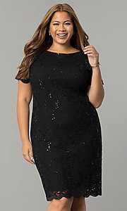 Lace and Sequin Plus-Size Party Dress by Tiana B
