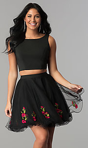 Two-Piece Short Homecoming Dress
