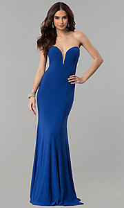 Long Mermaid Strapless Sweetheart Prom Dress