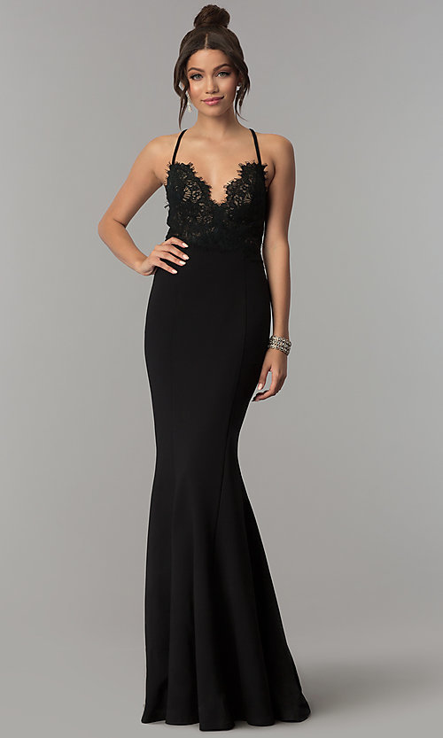 Image of long sleeveless prom dress with sheer back. Style: ZG-31124 Detail Image 2