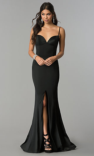 Long Sweetheart Prom Dress with Open Back
