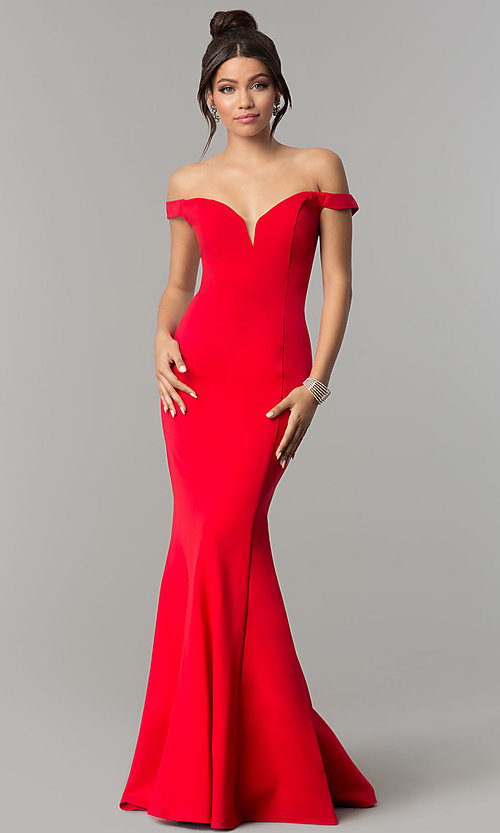 Image of long off-the-shoulder Zoey Grey prom dress.  Style: ZG-31140 Detail Image 2