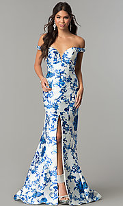 Long Mermaid-Style Print Prom Dress by Zoey Grey