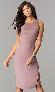 Fitted Knee Length Casual Party Dress