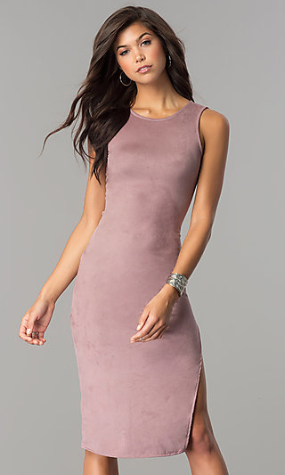 Fitted Knee-Length Casual Party Dress
