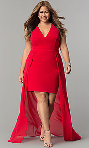 Plus Size High Low Holiday Party Dress
