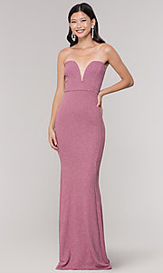 Image of strapless deep-sweetheart long mermaid prom dress. Style: SY-IDM5218VP Detail Image 7