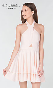 Image of Kalani Hilliker short party dress for Alyce Paris. Style: AL-KHKR100 Detail Image 3