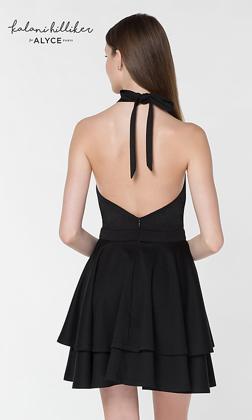 Image of Kalani Hilliker short party dress for Alyce Paris. Style: AL-KHKR100 Back Image