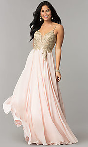 Long Open-Back JVNX by Jovani Chiffon Prom Dress