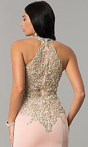 Image of JVNX by Jovani embellished-bodice long prom dress. Style: JO-JVNX60301 Detail Image 3