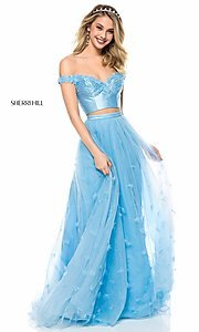 Off-the-Shoulder Sherri Hill Prom Dress