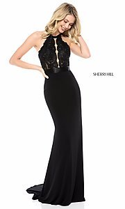 Long Black Prom Dress by Sherri Hill