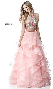 Two-Piece Sherri Hill Dress with Tiered Skirt