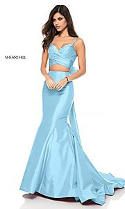 Long Sweetheart Two-Piece Prom Dress with a Bow