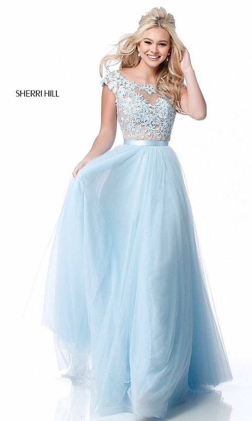 Open-Back Sherri Hill Long Prom Dress - PromGirl