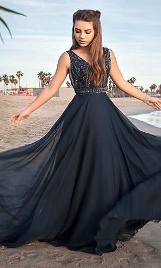 Blue Prom Dresses and Evening Gowns in Blue - PromGirl 4477d480e