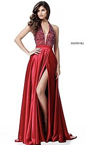 Sherri Hill Prom Dress with Beaded Top