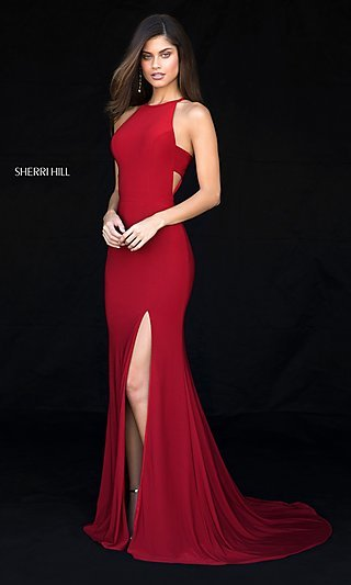 Long Formal Sherri Hill Prom Dress with Train