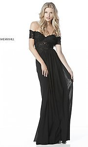 Long Off-the-Shoulder Prom Dress with Sleeves