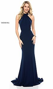 Floor-Length Sherri Hill Prom Dress with Train