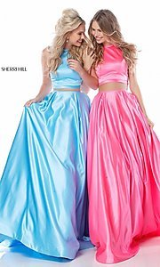 Sherri Hill High-Neck Long Prom Dress