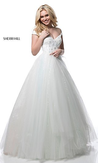 Ivory Prom Gowns, Semi-Formal Ivory Dresses - p1 (by 32 - high price)