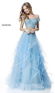 Off-the-Shoulder Two-Piece Sherri Hill Dress