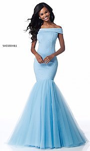 Off-the-Shoulder Mermaid Prom Dress