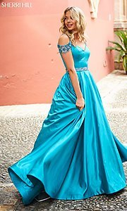 Cold-Shoulder Sherri Hill Prom Dress