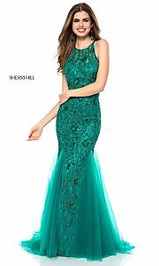Beaded Long Prom Dress by Sherri Hill