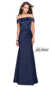 La Femme Off-the-Shoulder Prom Dress