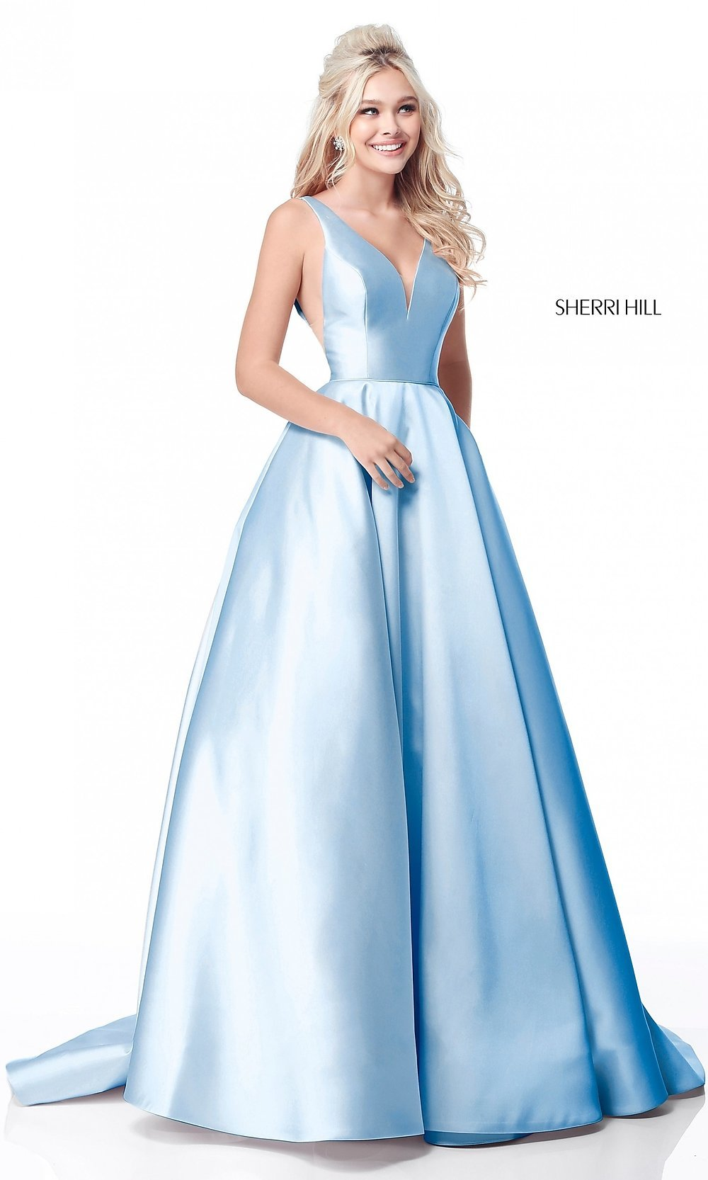 Sherri Hill Long Prom Dress With Pockets Promgirl