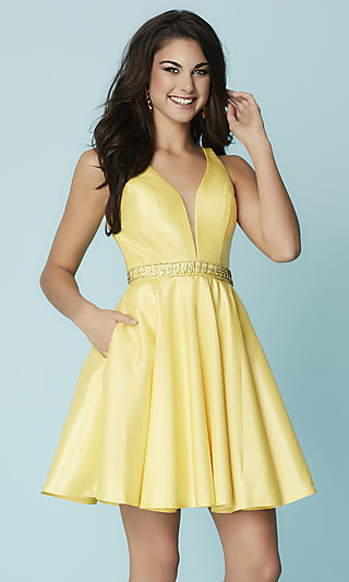 Yellow Prom Gowns and Short Yellow Dresses - p1 (by 32 - high price)