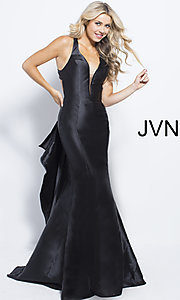 Mermaid-Style V-Neck Prom Dress from JVN by Jovani