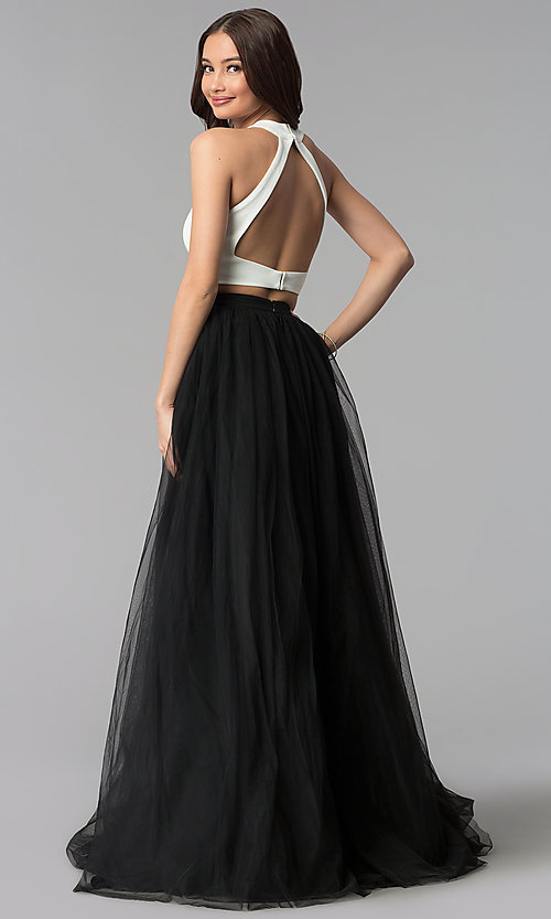 Image of high-neck two-piece Harper and Lemon prom dress. Style: AL-HL-250 Back Image