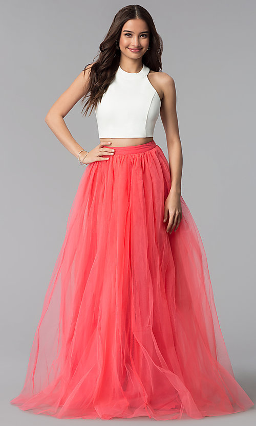 Image of high-neck two-piece Harper and Lemon prom dress. Style: AL-HL-250 Detail Image 3