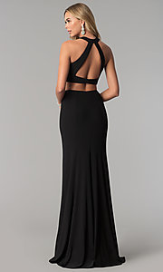 Image of two-piece long prom dress by Harper and Lemon. Style: AL-HL-253 Detail Image 2