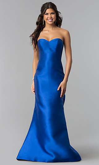 Strapless Sweetheart Prom Dress by Blush