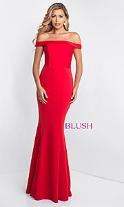 Off-the-Shoulder Long Prom Dress by Blush