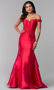 Red Mermaid-Style Prom Dress by Dave and Johnny