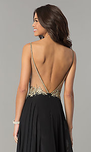 Image of open-back illusion-sweetheart long prom dress. Style: DJ-3116 Detail Image 2