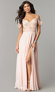 Long Sweetheart Cold Shoulder Prom Dress