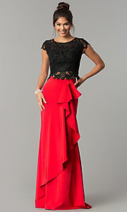 Black and Red Two-Piece Prom Dress