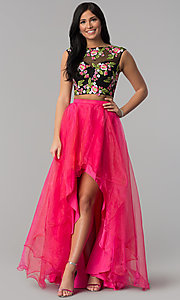 Two-Piece High-Low Prom Dress