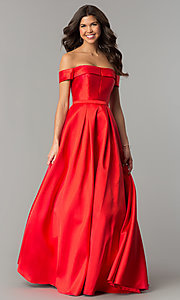 Off-the-Shoulder Ball-Gown-Style Prom Dress