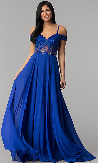 Long Off-the-Shoulder Prom Dress