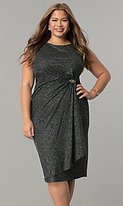 Holiday Party Short Plus Glitter Dress