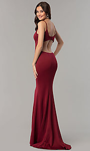 Image of Faviana mermaid prom dress with cut-out open back. Style: FA-10071 Back Image