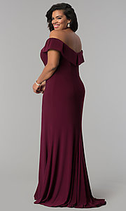 Image of long off-the-shoulder plus-size Faviana prom dress. Style: FA-9441 Back Image